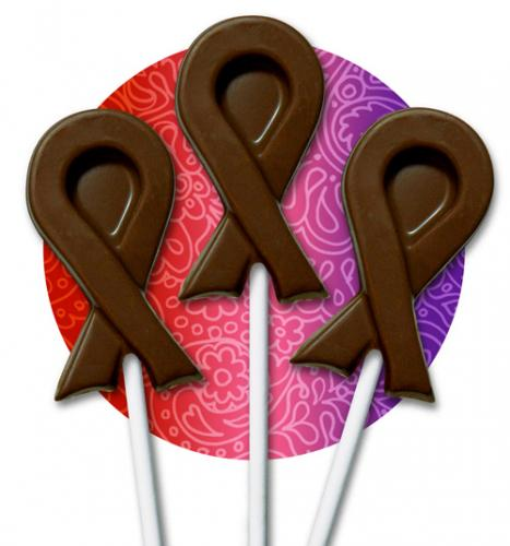 Chocolate Ribbon Lollipops