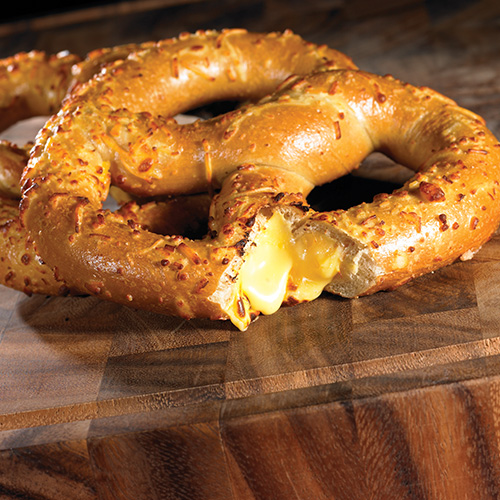 cheese filled pretzels