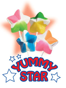 Yummy Star Lollipops