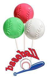 Baseball Shaped Lollipops